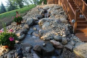 pondless waterfall stream in Bristol Indiana