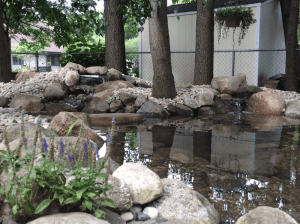 Pond and waterfall rebuild in Osceola IN