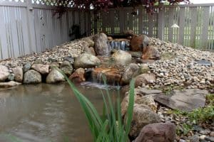 Larimer Greens Goshen Pond & Waterfall Rebuild